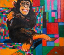Colorful  Chimpanzee